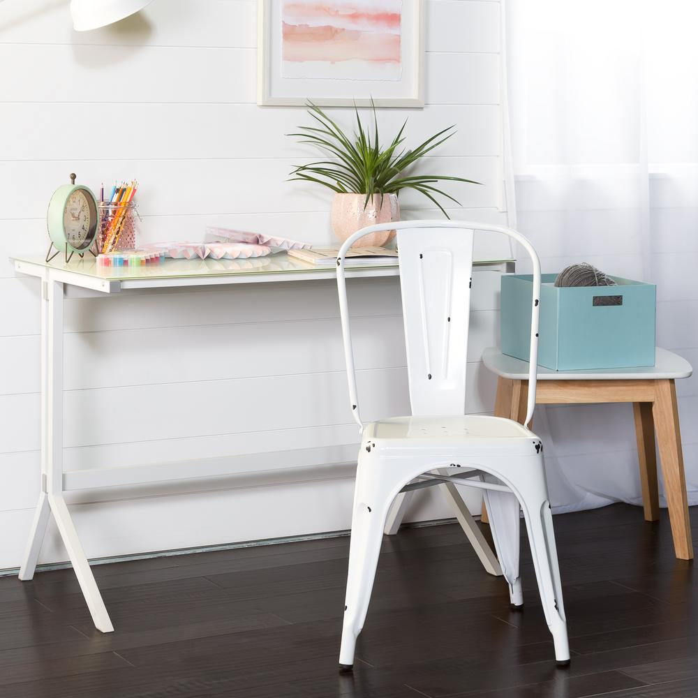 Walker edison furniture company white metal dining chair hdh33mcwh the home depot