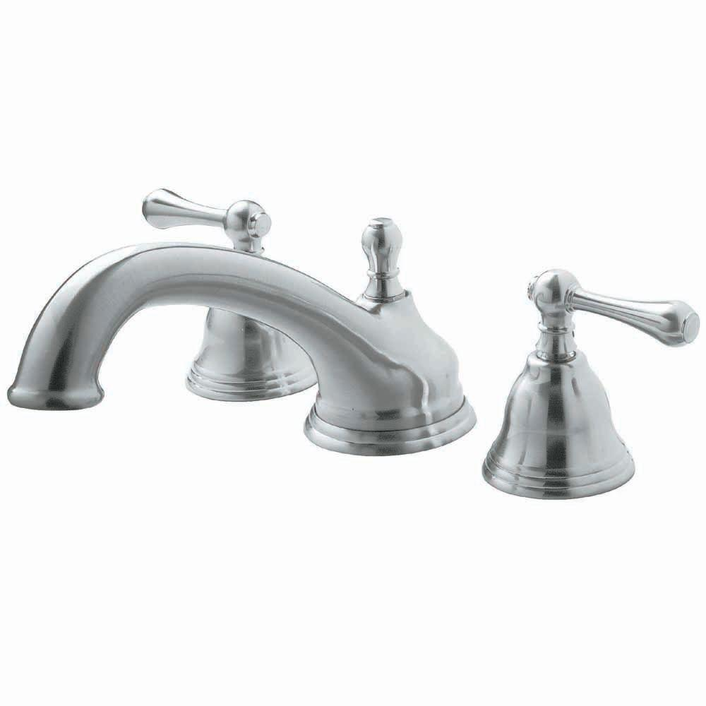Pegasus F Shape Spout 2-Handle Deck-Mount Roman Tub Faucet in ...