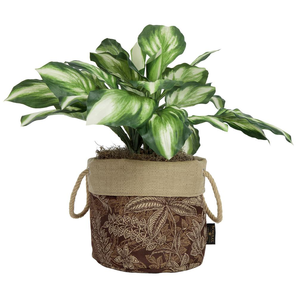 Bombay Outdoors 10 in. Aviana Fabric Floor Planter