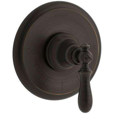 Artifacts Swing Lever 1-Handle Thermostatic Valve Trim Kit in Oil-Rubbed Bronze (Valve Not Included)