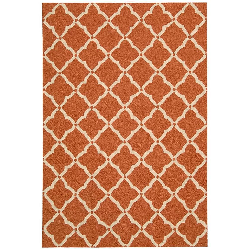 Portico Orange 5 Ft X 8 Indoor Outdoor Area Rug