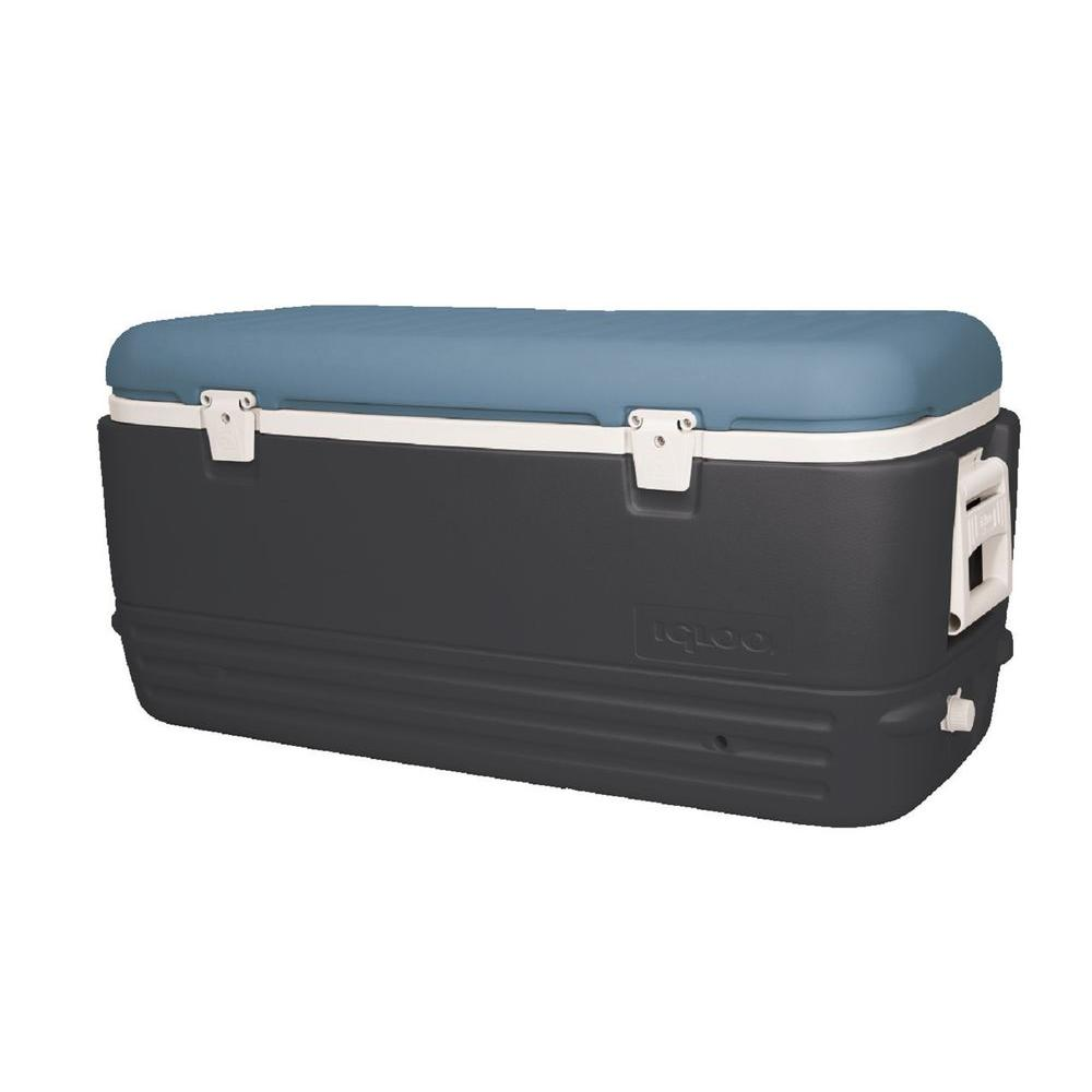 Igloo Maxcold 120 Qt. Cooler with Retractable Handles, Blue