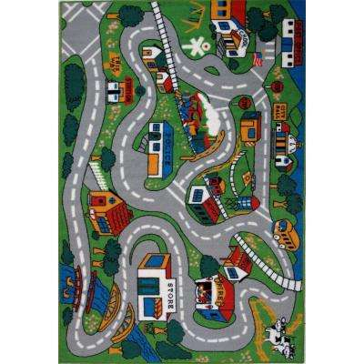 Fun Time Country Fun Multi Colored 5 ft. 3 in. x 7 ft. 6 in. Area Rug