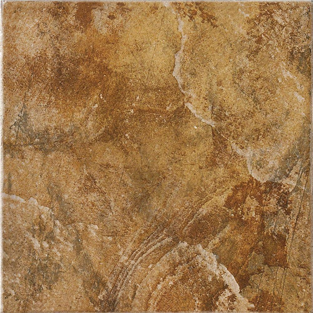 MARAZZI Imperial Slate Rust 16 in. x 16 in. Ceramic Floor and Wall ...