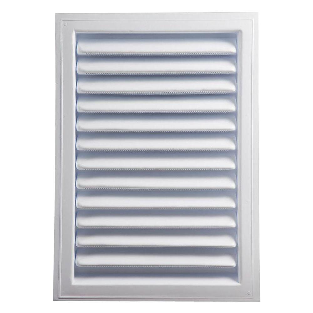 Master Flow 12 in. x 18 in. Plastic Wall Louver Static Vent in White
