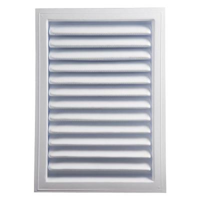 12 in. x 18 in. Plastic Wall Louver Static Vent in White