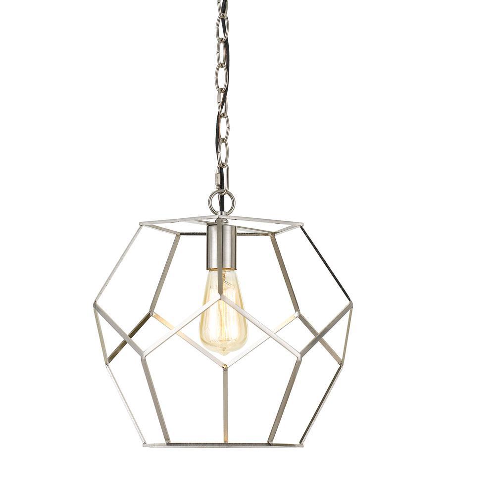 Bellini 1-Light Nickel Pendant