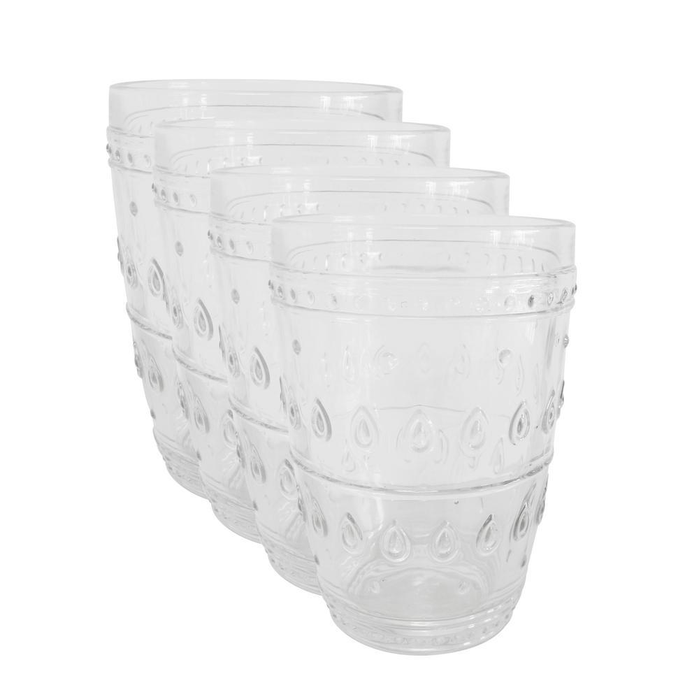 Fez 4-Piece 14oz. Clear Highball Glass Set