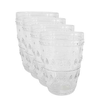 Fez 4-Piece 14oz. Clear Highball Glass Set