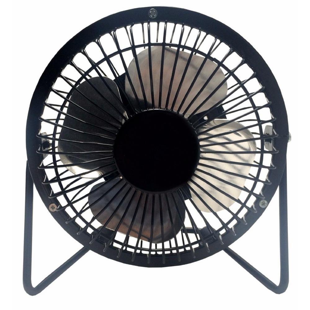 LavoHome 4 in. Mini Fan High Velocity Personal Office Fan Black Electric Table Fan Compact Design