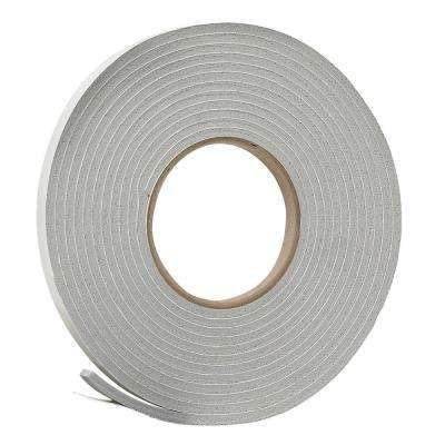 3/8 in. x 3/16 in. x 17 ft. Grey Vinyl Foam Weatherseal Tape