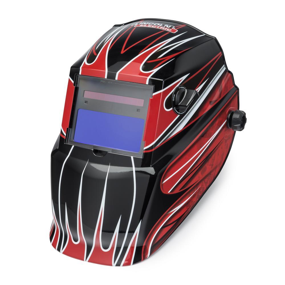 Red Fierce Auto Darkening Welding Helmet Variable Shade 7-13  with Grind Mode