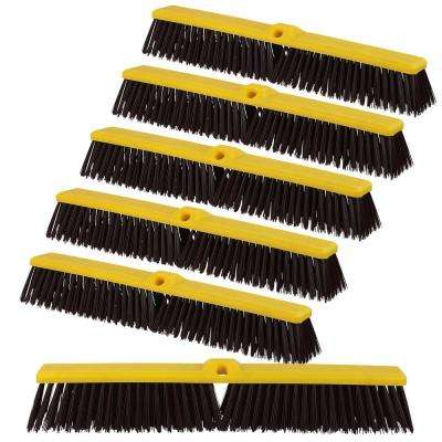 Multi Surface Push Broom-Coarse Polypropylene and Polystyrene Hard Floor Surface Cleaner Broom (Pack of 12)
