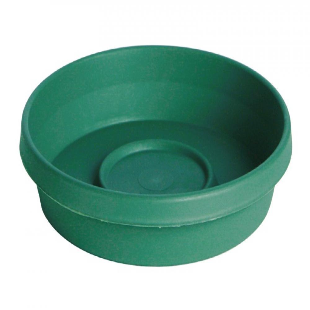 Terra 13.25 in. x 2.50 in. Jungle Green Plastic Planter Tray