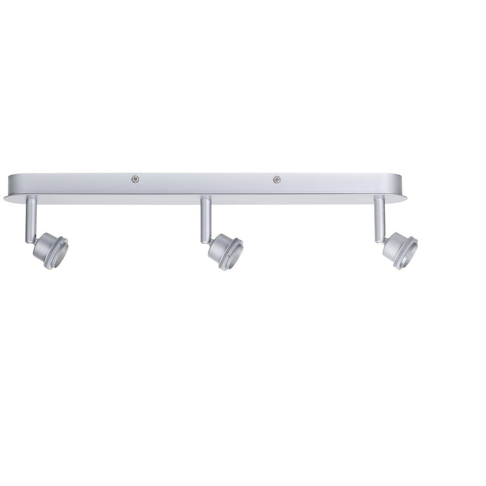 null Triple Spotlight Matte Chrome Track Lighting