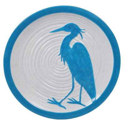 Natural Coast Multi-Colored 13.75 in. Earthenware Round Platter