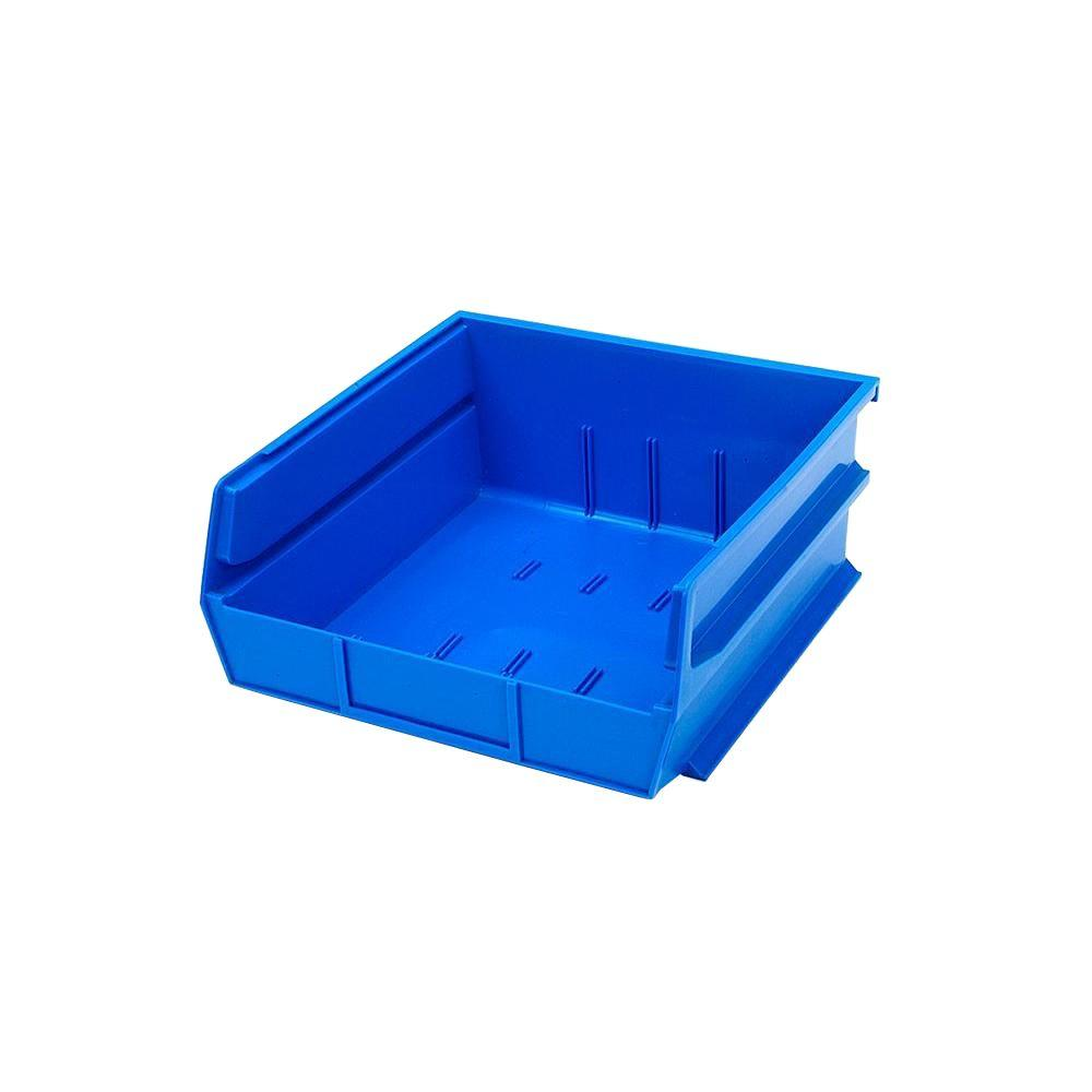 Triton Products LocBin 11 in. W Stacking, Hanging and Interlocking Polypropylene Bin, Blue (2-Pack)
