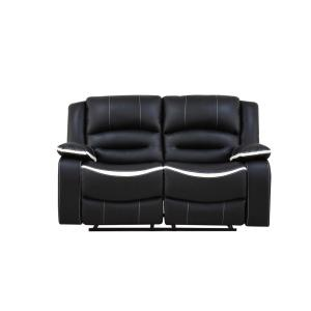 ACME Furniture Broderick Ebony and Cream PU Loveseat by ACME Furniture