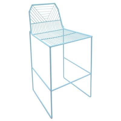 39.25 in. Blue Metal Counter Stool