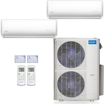Olympus 48,000 BTU 2-Zone 4 Ton Ductless Mini Split Air Conditioner and Heat Pump, 25 ft. Install Kit - 230V/60Hz