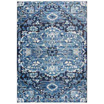 Panache Blue 7 ft. 10 in. x 10 ft. 10 in. Rectangle Area Rug