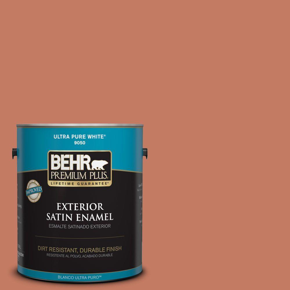 1-gal. #220D-6 Miami Spice Satin Enamel Exterior Paint