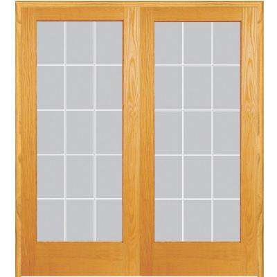 Both Active Unfinished Pine Glass 15 Lite Clear