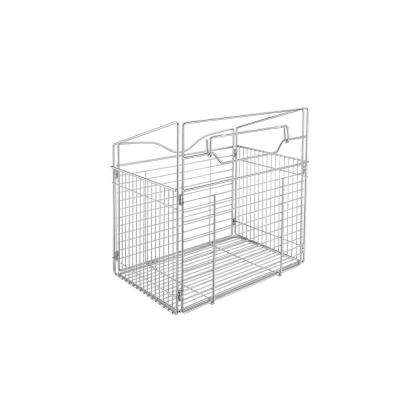 21 in. x 19.76 in. Chrome Pull-Out Hamper Basket