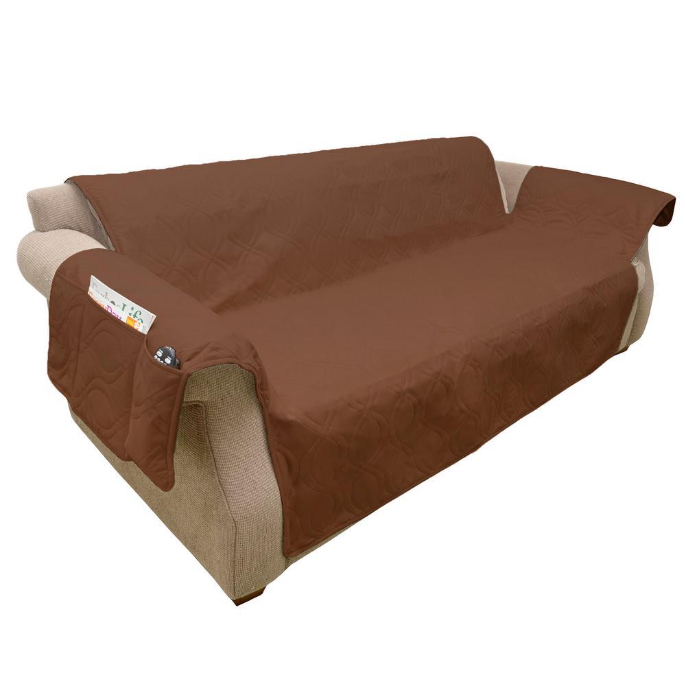 Non-Slip Brown Waterproof Sofa Slipcover