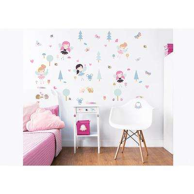 Pink Woodland Fairies and Friends Wall Stickers
