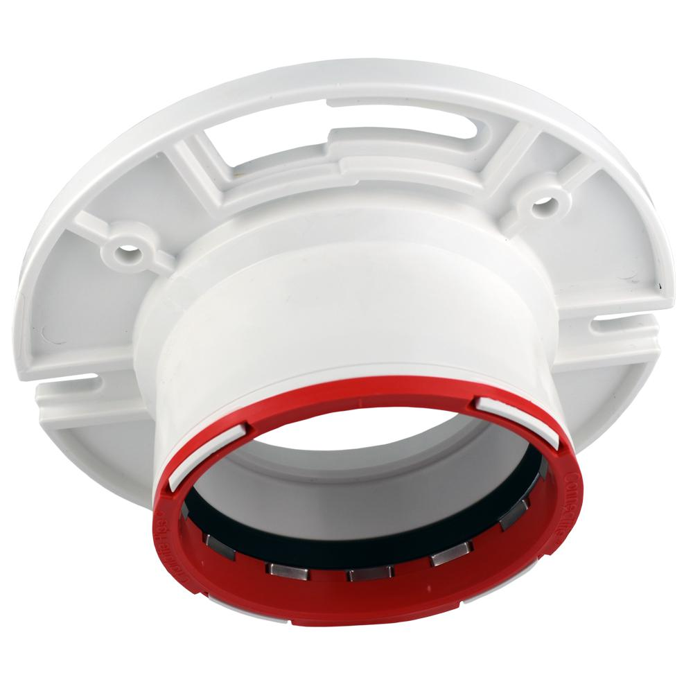 4 in. x 3 in. Connectite Closet Flange with Stop