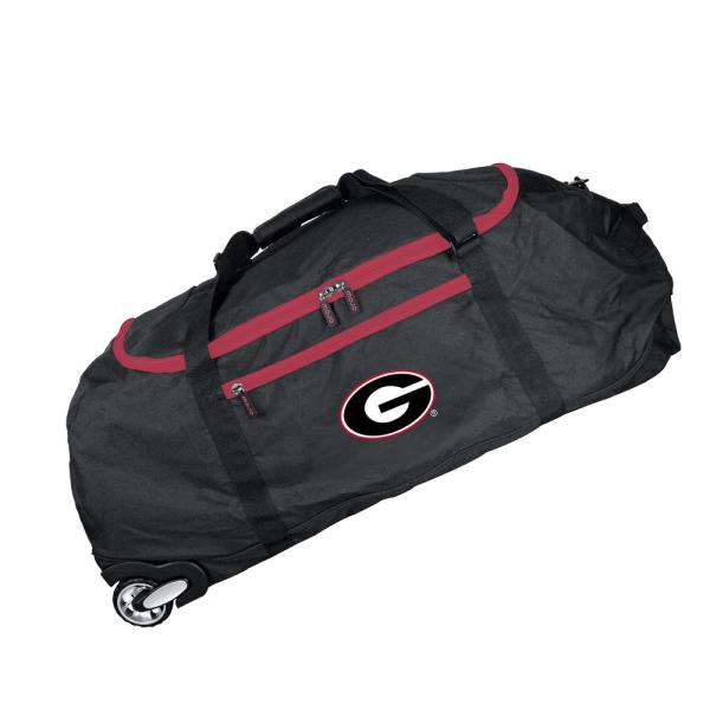 Denco NCAA Georgia 36 in. Checked-In Rolling Duffel in Black CLGAL801