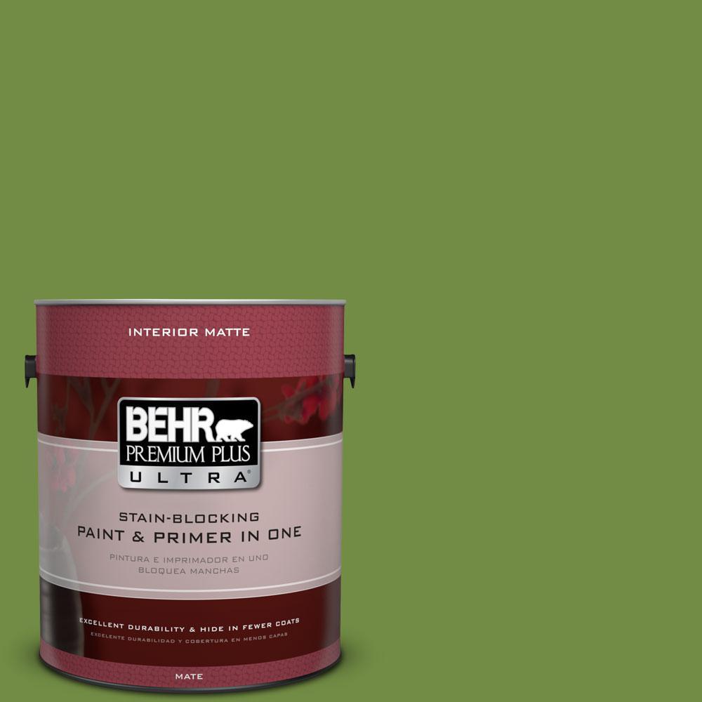 1 gal. #420D-6 Thyme Green Flat/Matte Interior Paint