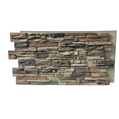 Faux Grand Heritage 24 in. x 48 in. x 1-1/4 in. Stack Stone Panel Rustic Lodge