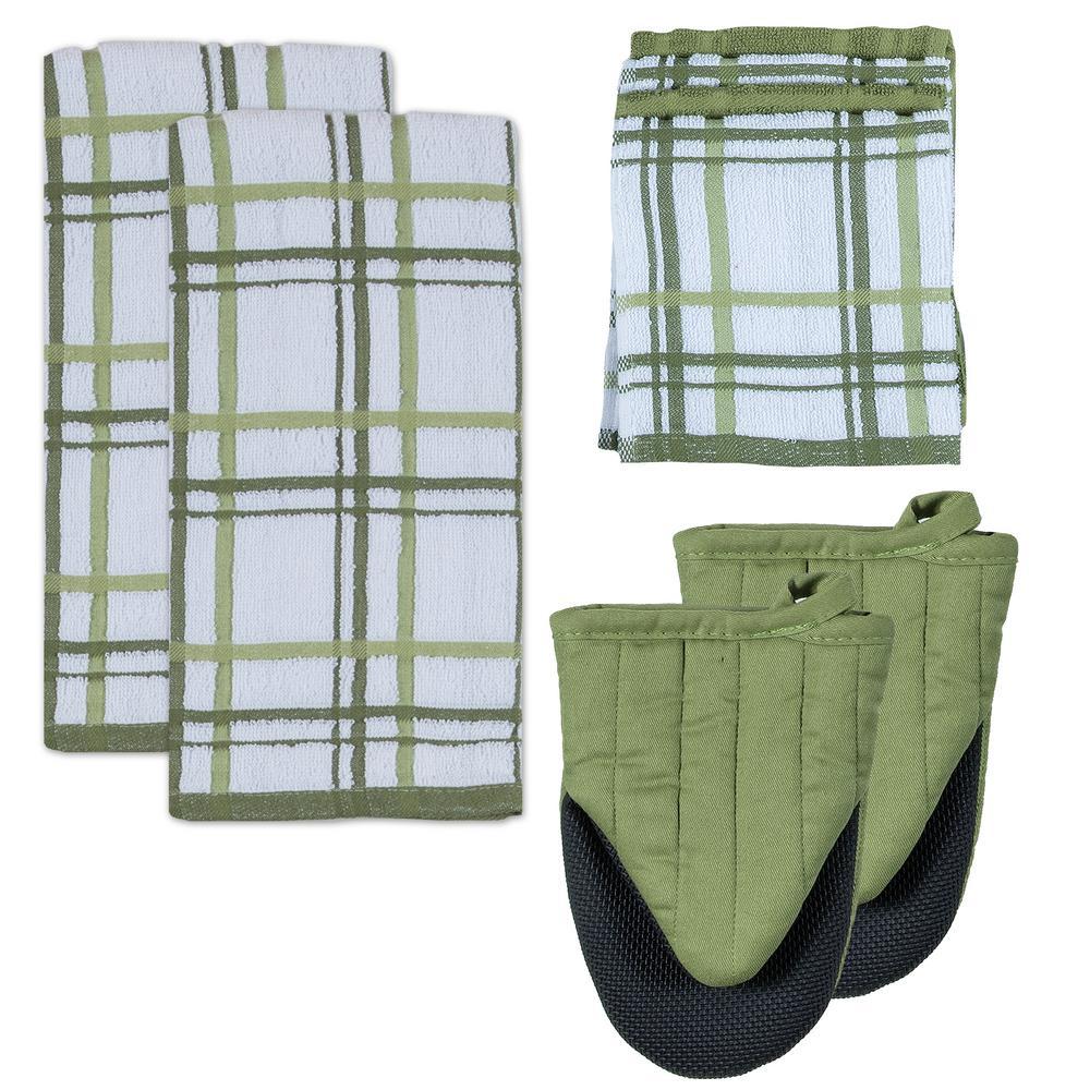 Kitchen Basics Cotton Meadow Kitchen Textiles (Set of 8)
