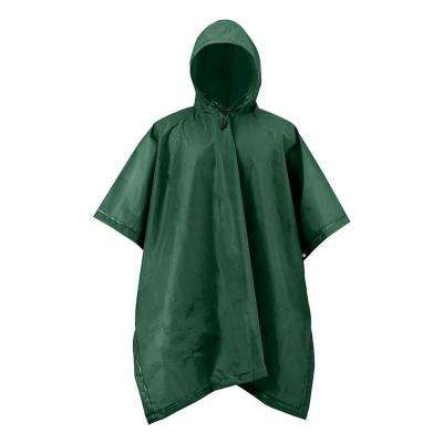 XT Series One Size Green Adult Rain Poncho Forest