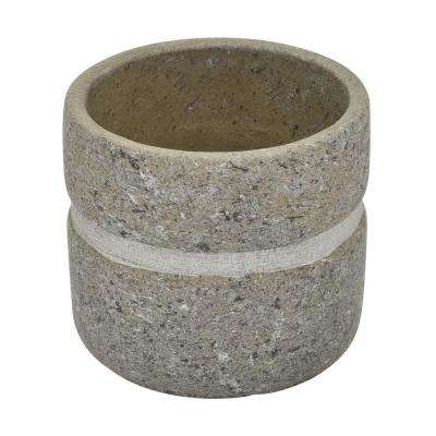 4.25 in. Terra Cotta Flower Pot in Gray
