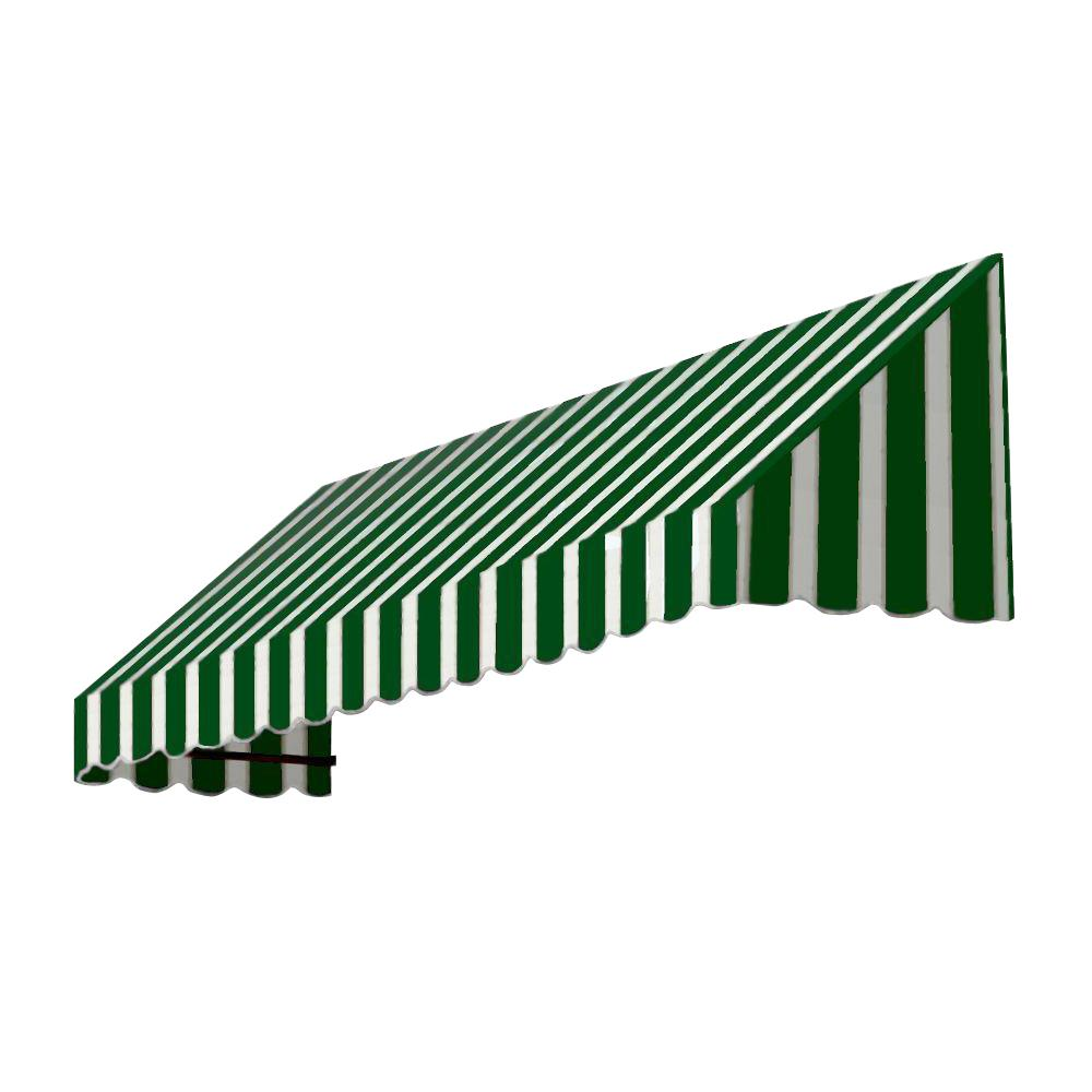 AWNTECH 12 ft. San Francisco Window/Entry Awning (44 in. H x 36 in. D) in Forest/White Stripe