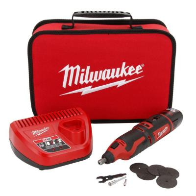 M12 12-Volt Lithium-Ion Cordless Rotary Tool Kit w/(1) 1.5Ah Battery, Charger, Tool Bag