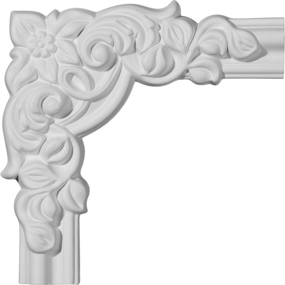 8 in. x 1-1/8 in. x 8 in. Seville Panel Moulding Corner