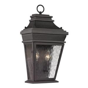 Peachtree Forge Collection 2-Light Charcoal Outdoor Sconce  sc 1 st  Home Depot & Fifth and Main Lighting Parsons Field 2-Light Aged Pewter with ... azcodes.com