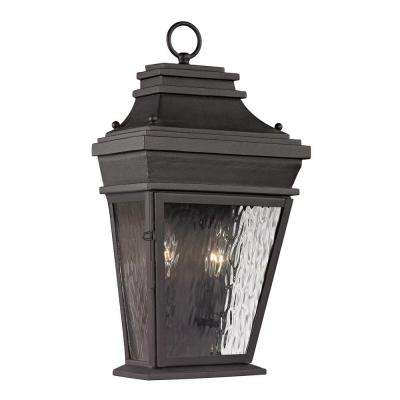 Peachtree Forge Collection 2-Light Charcoal Outdoor Sconce