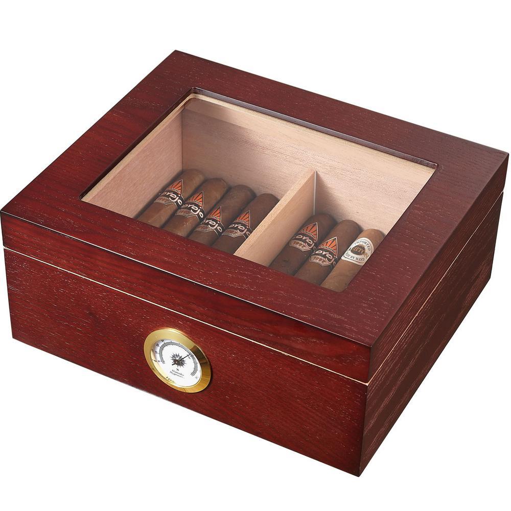 Visol Santa Clara Glass Top And Rosewood Cigar Humidor