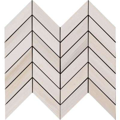 Watercolor Bianco 12 in. x 15 in. x 10mm Glazed Porcelain Mesh-Mounted Mosaic Tile (5 sq. ft. / case)