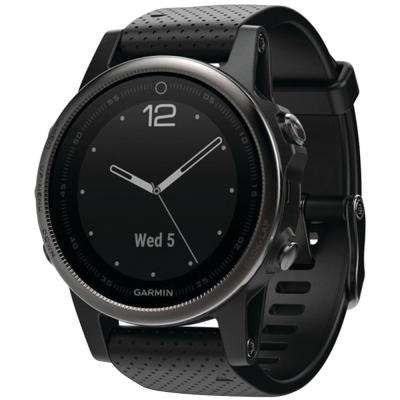 Fenix 5S 42 mm Multisport Sapphire Edition GPS Watch in Black with Black Band