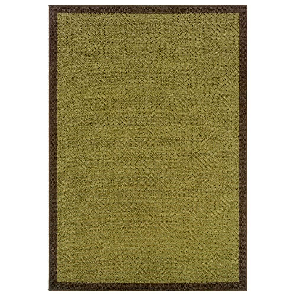 Nevis Boardwalk Lime/Chocolate 3 ft. 7 in. x 5 ft. 6
