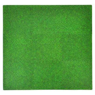 Grass Print 36 in. x 36 in. EVA Floor Mat Set