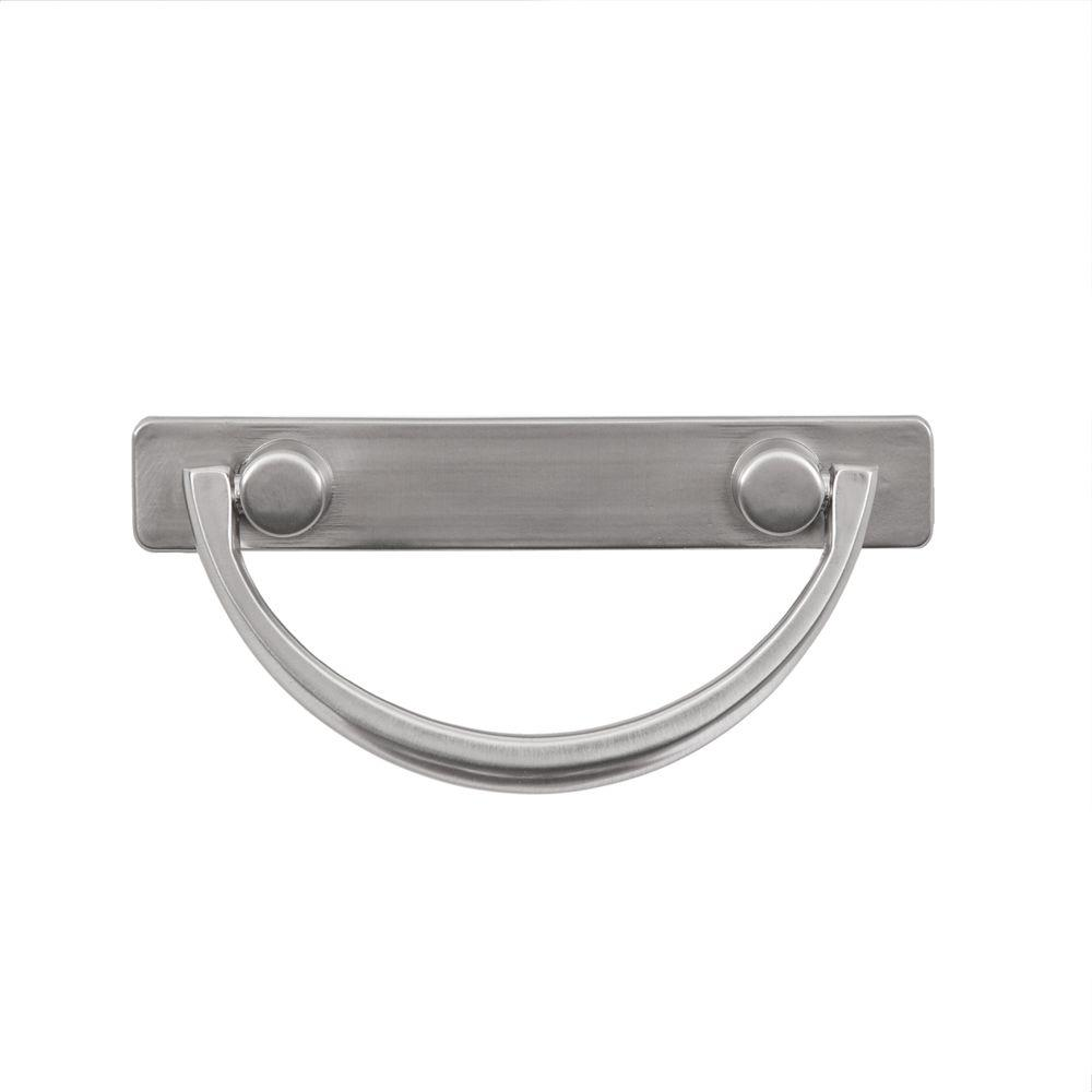 null Harnett 3 in. Satin Nickel Bail Pull-DISCONTINUED