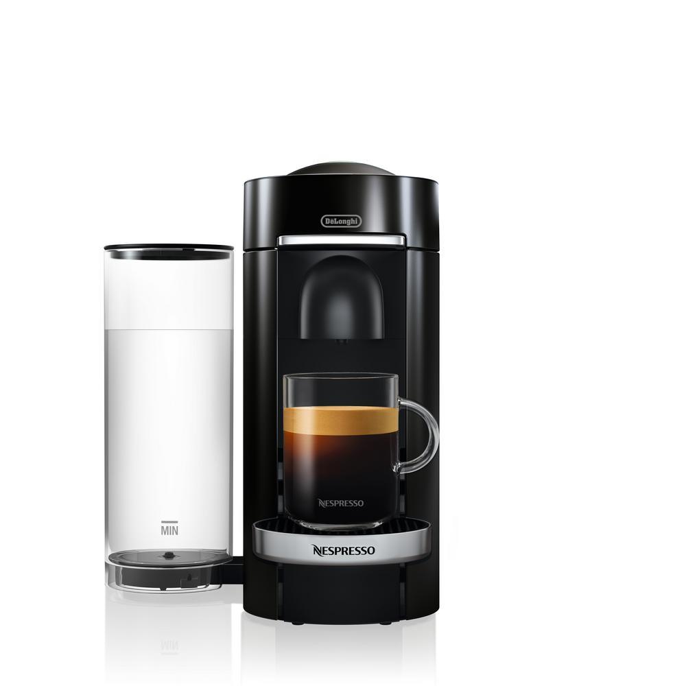 Nespresso DeLonghi Vertuo Plus Deluxe Black Single Serve Coffee and Espresso Machine