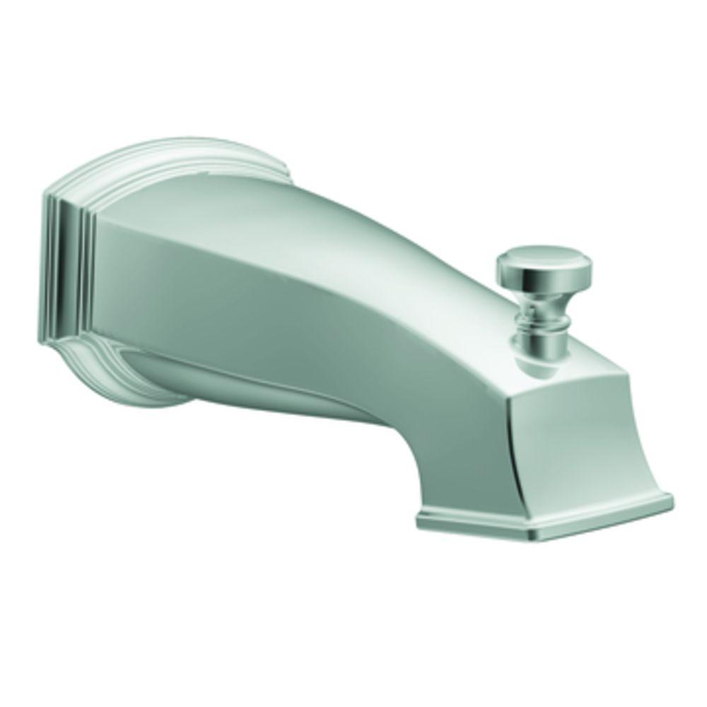 MOEN Rothbury Diverter Tub Spout with Slip Fit Connection in Chrome